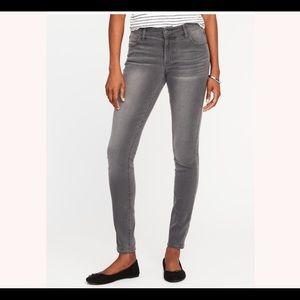 🆕 Old Navy Dark Gray Mid Rise Super Skinny Jeans